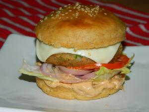 Veg Cheese Burger recipe on Food Connection
