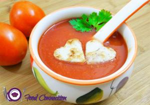 See Healthy Tomato Soup recipe on Food Connections By Madhulika