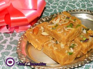 Instant Mohanthal / Besan Barfi / Chick pea Fudge / Homemade recipe on Food Connection