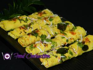 Khandvi recipe on Food Connection