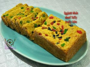 Eggless Whole Wheat Tutti Fruity Cake recipe on Food Connection