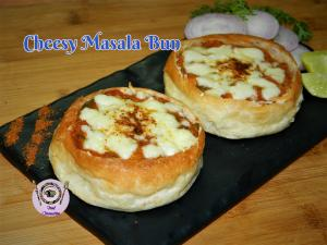 Cheesy Masala Bun recipe on Food Connection
