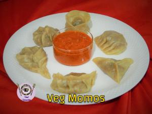 Veg Steamed Momos recipe on Food Connection