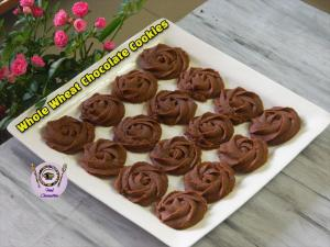 Whole Wheat Chocolate Rosette Cookies recipe on Food Connection