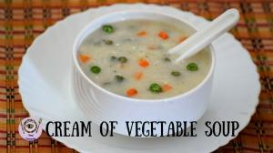 See Restaurant Style Cream Of Vegetable Soup recipe on Food Connections By Madhulika