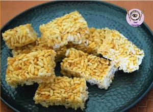 Rice Crispy | Rice Brittle | Crispy Puffed Rice recipe on Food Connection