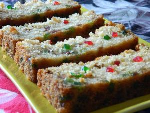Eggless Tutti Fruity Rava /Semolina Cake / Iyenger Bakery Tutty Fruity Cake recipe on Food Connection