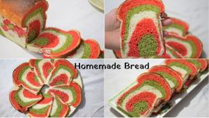 Tri-Colour Bread At Home recipe on Food Connection