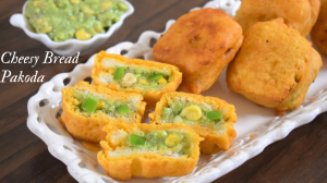 Cheesy Bread Pakoda recipe on Food Connection