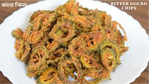 Karela chips recipe on Food Connection