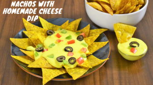 See Crispy Nachos With Homemade Cheese Dip recipe on Food Connections By Madhulika