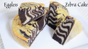 See Eggless Zebra Cake recipe on Food Connections By Madhulika