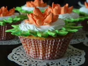 Eggless Vanilla Cupcakes with Icing | Soft and Spongy Cupcake recipe on Food Connection