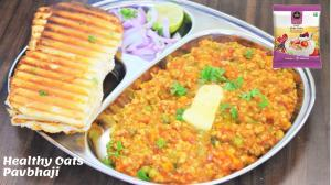 See Oats Pavbhaji recipe on Food Connections By Madhulika