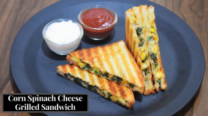 See Cheese Corn Spinach Grilled Sandwich recipe on Food Connections By Madhulika