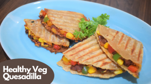 See Oats Vegetable Quesadilla recipe on Food Connections By Madhulika