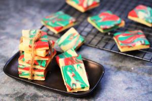 See Tricolour Chocolate Fudge recipe on Food Connections By Madhulika