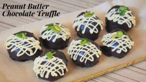 See Peanut Butter Chocolate Truffles recipe on Food Connections By Madhulika