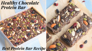 See Healthy Chocolate Energy Protein Bar recipe on Food Connections By Madhulika